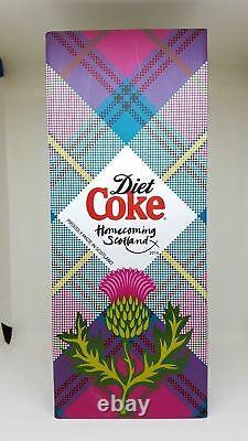 Coca Cola Bottle Aluminium Scotland Homecoming Limited Edition 129/500 Très Rare