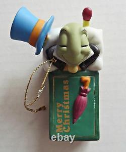 Disney Grolier Gold Edition Jimmy Cricket Matchbox Ornement De Noël Very Rare