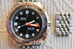 Édition Limitée Doxa Sub 750t Sharkhunter Swiss Diver. Ensemble Complet. Très Rare