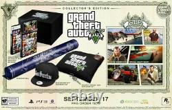 Grand Vol Auto 5 Gta V Collectors Edition Xbox 360 Factory Scelled Très Rare