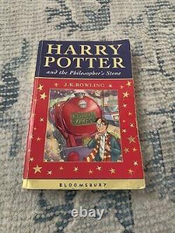 Harry Potter Book Set Complete Celebratory 1ère Édition Très Rare Couverture Métallique