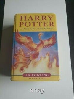 Harry Potter Et L'ordre Du Phoenix Première Édition Hardback Très Rare