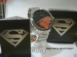 Hommes New Edition Spéciale Fossil Superman Montre Ll1053 Collector Est Très Rare
