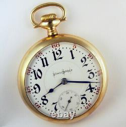 Illinois Bunn Special 24 Jewel 18s Très Rare Drapeau Variante Pocket Watch