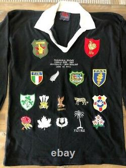 Inaugural Rugby World Cup 1987 Limited Edition Rugby Union Shirt Très Rare