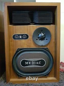 Kef Mediac -très Rare Haut-parleurs Vintage Édition Limitée