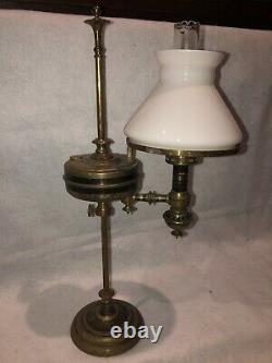 Lampe D'huile De Sperme Minérale De Downers Rares Wm Carleton Lampe Étudiante Version Très Rare