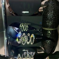 Lunettes De Soleil Bvlgari Swarovski Crystal Edition Limitée Miroir 6017-b Very Rare