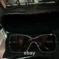 Lunettes De Soleil Chanel Limited Edition Swarovski Crystal 5065-b Brun Très Rare