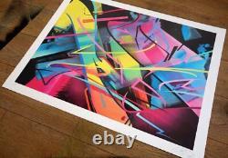 Madc Signed Print Madc Nyc 1982 Édition De 100. Bleu. Épuisé