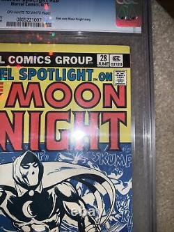 Marvel Spotlight 28 Very Rare 30 Cent Variante 1st Moon Night Solo- Cgc 8.5