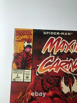 Maximum Carnage # 1 1994 Tres Rare Spider-man Venom Marvel, Acclaim Variante