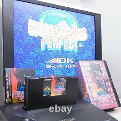 Neo Geo Aes Rom World Heroes Perfect Jp Version Très Rare! 100% Authentique