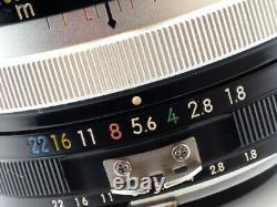 Nikon Nikkor 85mm 1.8 1971 Minty! Version Convertie À L'ia Très Rare