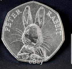 Peter Rabbit 2016 50p Moitié Spéciale Whisker Édition Très Rare Fifty Pence Coin