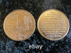 Piloté Médaille Apollo 11, Gold Edition Vip, Mfa, Tres Rare
