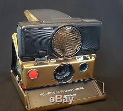 Polaroid Sx-70 Modèle Sonar, Version Or (très Rare) Boxed Nouveau Travail Entièrement
