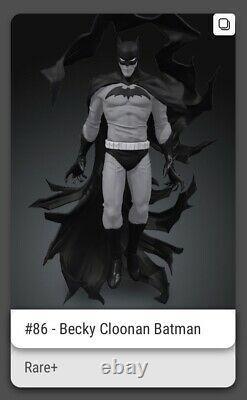 Première Édition Veve Nft #86 Becky Cloonan Batman (épuisé) Très Rare