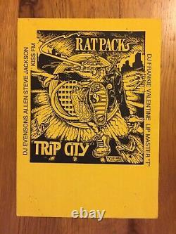 Rat Pack Trip City 1989 Version Très Rare Acid House Rave Flyer