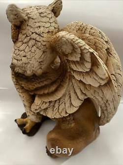 Retired Windstone Editions Male Brown Griffin Statue Very Rare-melody Pena 1989
