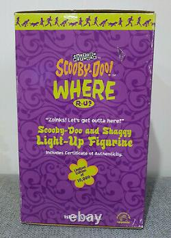 Scooby-doo & Shaggy Light-up Statue Limited Edition Applaudissements 2000 Très Rare Htf