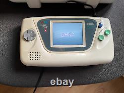 Sega Game Gear White Edition Complete Très Rare, Collectors, Tuner Tv Dans Le Cas