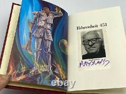 Signé Easton Press Fahrenheit 451 Collectors Vintage Limited Edition Très Rare
