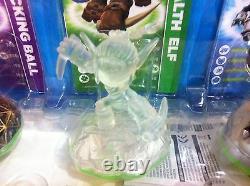 Skylanders Très Rares Crystal Clear Stealth Elf Variante 3-pack Vhtf