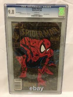 Spider-man #1 Cgc 9,8 Pages Blanches 1990 Upc Édition Or. Impression Limitée Très Rare