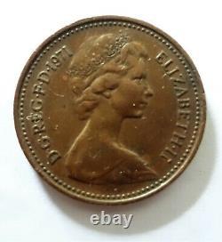 Très Rare 1971 Nouveau Penny 1p Pièce De La Première Édition