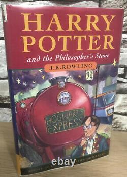 Très Rare 1ère Édition 2ème Impression The Philosophers Stone Harry Potter Hardback