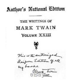 Très Rare Édition Uniforme De L'édition Nationale De Mark Twain Books Auteur