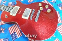 Très Rare Epiphone Les Paul In Red Glitter Sparkle Ltd Edition Collectable 1997