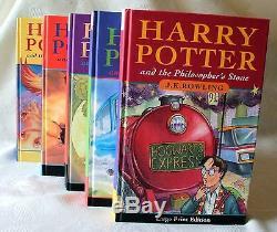Tres Rare Harry Potter Pierre Philosophale 1er Au 1er Royaume-uni Hb Première Édition Bloomsbury