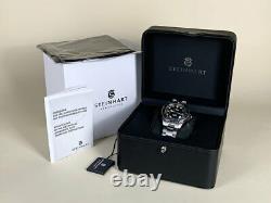 Très Rare Nouveau Steinhart Ocean 39 Marine Black Limited Edition Watch Full Set