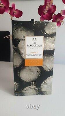 Très Rare Whisky Macallan Amber Edition Limitée Avec 2 Verres 70cl 40%