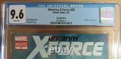 Uncanny X-force 20 Variante Venin Très Rare 1 De 41 Blue Label Cgc 9.6