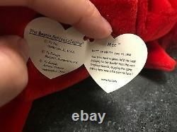 Very Rare 4 Erreurs Ty Beanie Baby Mac Limiited Edition