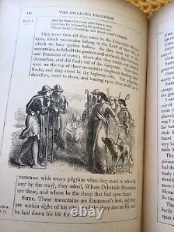 Very Rare Antique Illustrated Edition, John Bunyan Le Progrès Des Pèlerins