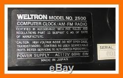 Weltron Ordinateur Radio-reveil Vintage 1960/1970 Orange Couleur Version Tres Rare