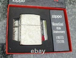 Zippo, Vénitien, 45e Anniversaire, Édition Limitée, (très Rare)